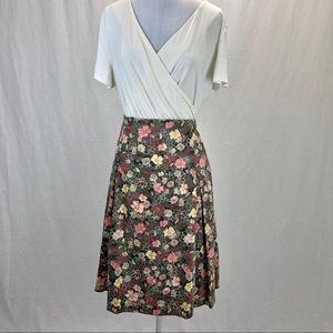 Christopher & Banks midi skirt floral - size 16